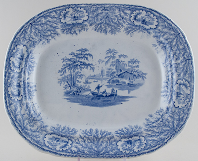 Unattributed Maker Albion Meat Dish or Platter c1845