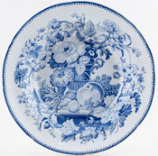 Unattributed Maker Unidentified Pattern Soup Plate c1840