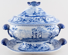 Soup Tureen Harvesters c1820