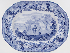 Meat Dish or Platter The Traveller c1820