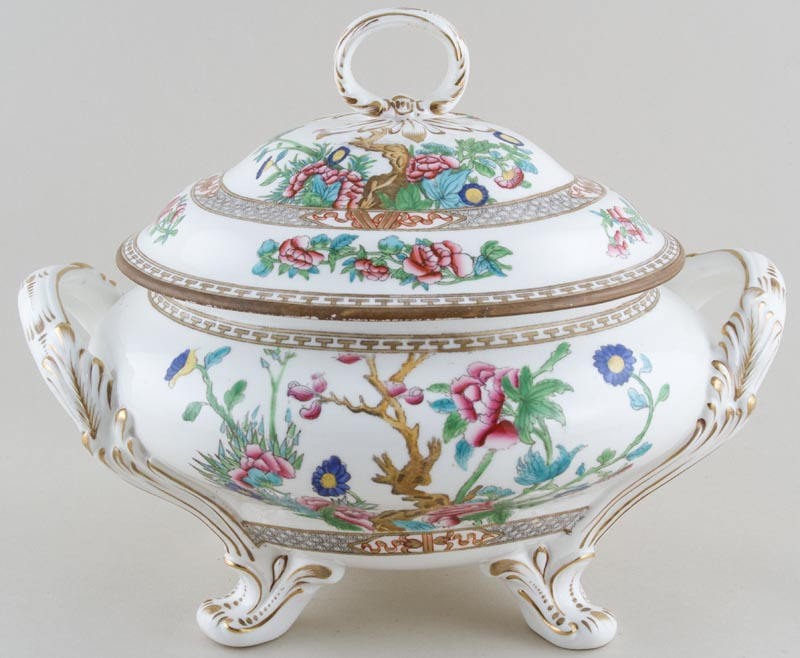 Unattributed Maker Indian Tree colour Tureen lidded c1880