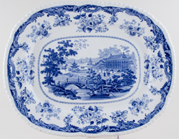 Unattributed Maker Chinese Marine Meat Dish or Platter c1840