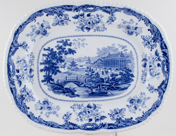 Unattributed Maker Chinese Marine Meat Dish or Platter c1830