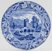 Spode Bridge of Lucano Plate c1835
