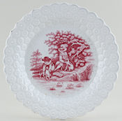 Moore Unidentified Pattern pink Plate c1840