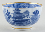 Unattributed Maker Two Temples Teabowl c1810