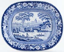 Don Pottery Wild Rose Meat Dish or Platter c1850