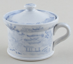 Unattributed Maker Two Temples Mustard Pot c1830