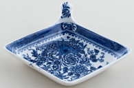 Minton Basket of Flowers Pickle Dish c1820