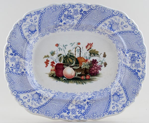 Smith Fruit Basket colour Meat Dish or Platter c1840