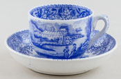Carr Unidentified Pattern Toy Cup and Saucer c1855