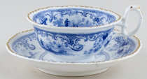 Unattributed Maker Unidentified Pattern Teacup and Saucer c1835