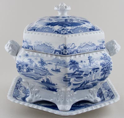 Ridgway India Temple Soup Tureen c1820