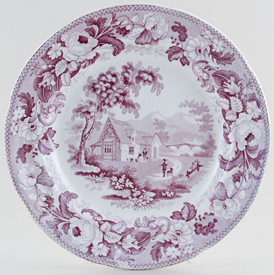 Davenport Mare and Foal mulberry Plate c1830