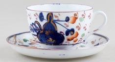 Unattributed Maker Oyster colour Teacup and Saucer c1840