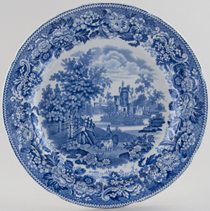 Boyle Antique Scenery Series Plate Hexham Abbey c1825