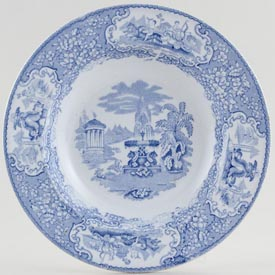 Bell Triumphal Car Dessert or Small Soup Plate c1870