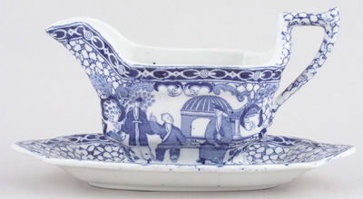 Adams Chinese Bird Sauce Boat with Fixed Stand c1920s