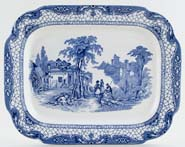 Adams Landscape Meat Dish or Platter c1934