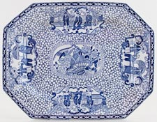 Adams Chinese Bird Meat Dish or Platter c1931