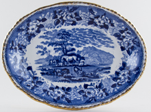 Adams Cattle Scenery Meat Dish or Platter c1913