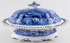 Adams Cattle Scenery Covered Dish c1913