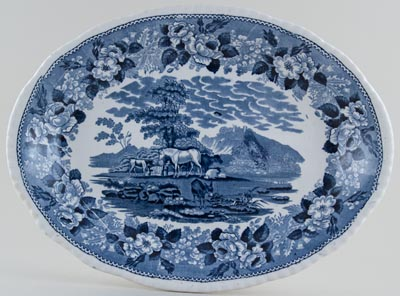 Adams Cattle Scenery Meat Dish or Platter c1923