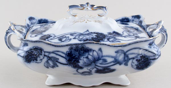 Adams Lily Vegetable Dish with Cover c1900