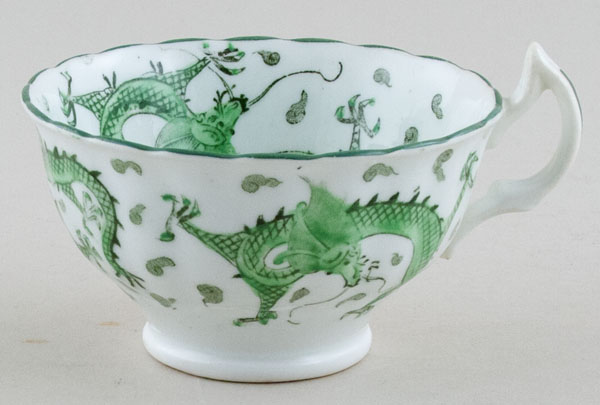 Asby Dragon green Teacup c1900