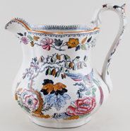 Ashworth Flying Bird colour Jug or Pitcher c1895
