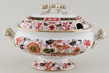 Ashworth Old Japan Vase colour Sauce Tureen c1875