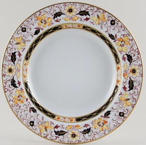 Ashworth Unidentified Pattern colour Soup Plate c1930s
