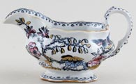 Ashworth Flying Bird colour Sauce Boat c1895