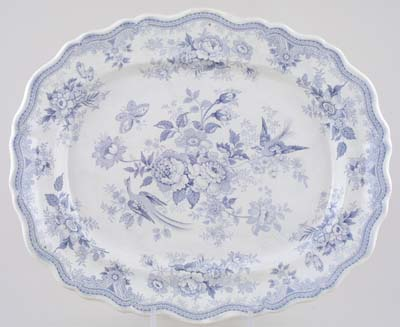 Beech Hancock Asiatic Pheasants Meat Dish or Platter c1855