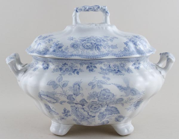 Unattributed Maker Asiatic Pheasants Soup Tureen c1860