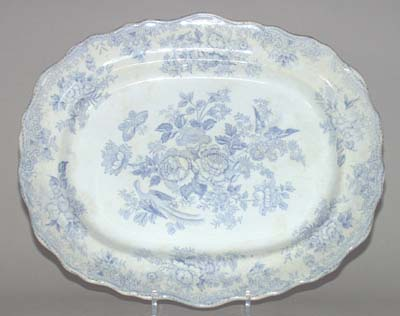 Barkers and Kent Asiatic Pheasants Meat Dish or Platter c1890