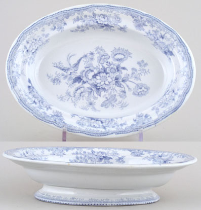 Booths Asiatic Pheasants Vegetable Dish c1870