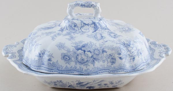 Hammersley Asiatic Pheasants Covered Vegetable Dish c1880