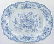 Meat Dish or Platter with tree and well c1865