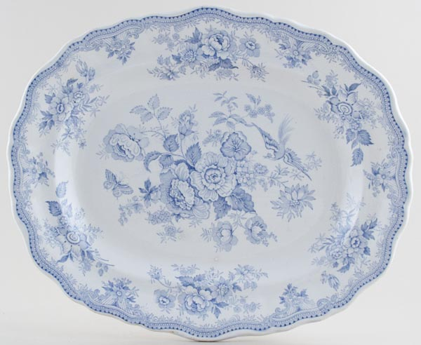 Burgess and Leigh Asiatic Pheasants Meat Dish or Platter c1880s