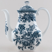 Wedgwood and Co Asiatic Pheasants green Coffee Pot c1970