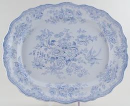 Hollinshead and Kirkham Asiatic Pheasants Meat Dish or Platter c1890