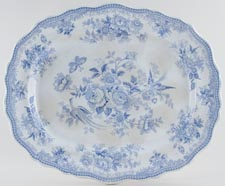 Allman Broughton and Co Asiatic Pheasants Meat Dish or Platter c1860