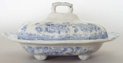Old Hall Asiatic Pheasants Vegetable Dish with Cover c1880