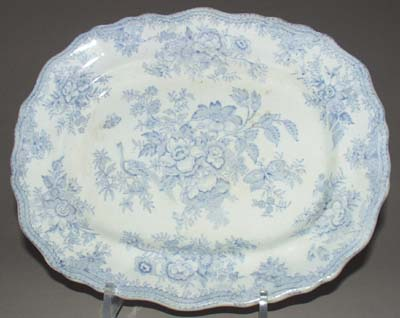 Bourne and Leigh Asiatic Pheasants Meat Dish or Platter c1900