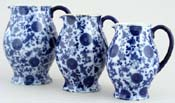 Jugs or Pitchers Set of Three c1880s