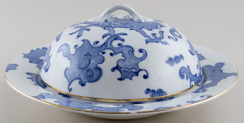 Bishop and Stonier Dragon Muffin Dish c1936