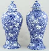 Vases Pair with Covers c1930s