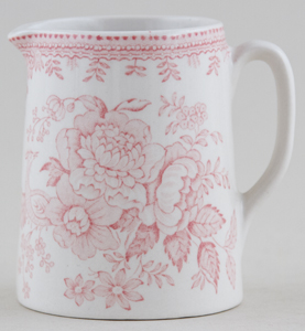 Burleigh Asiatic Pheasants pink Jug or Creamer Tankard mini