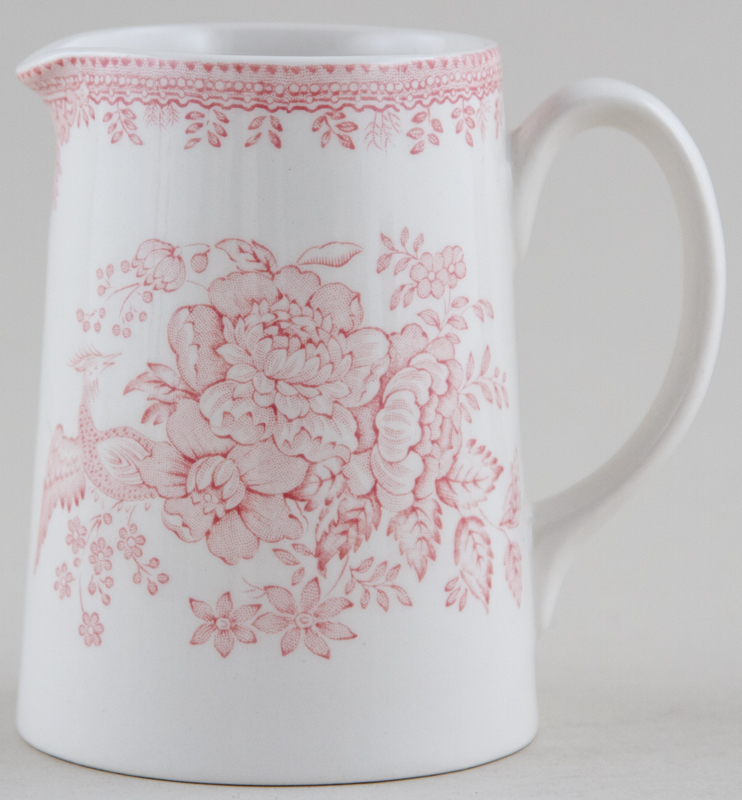 Burleigh Asiatic Pheasants pink Jug or Pitcher Tankard small